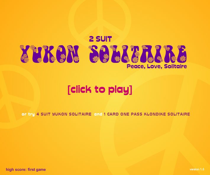 Click to view 2 Suit Yukon Solitaire 1.0 screenshot